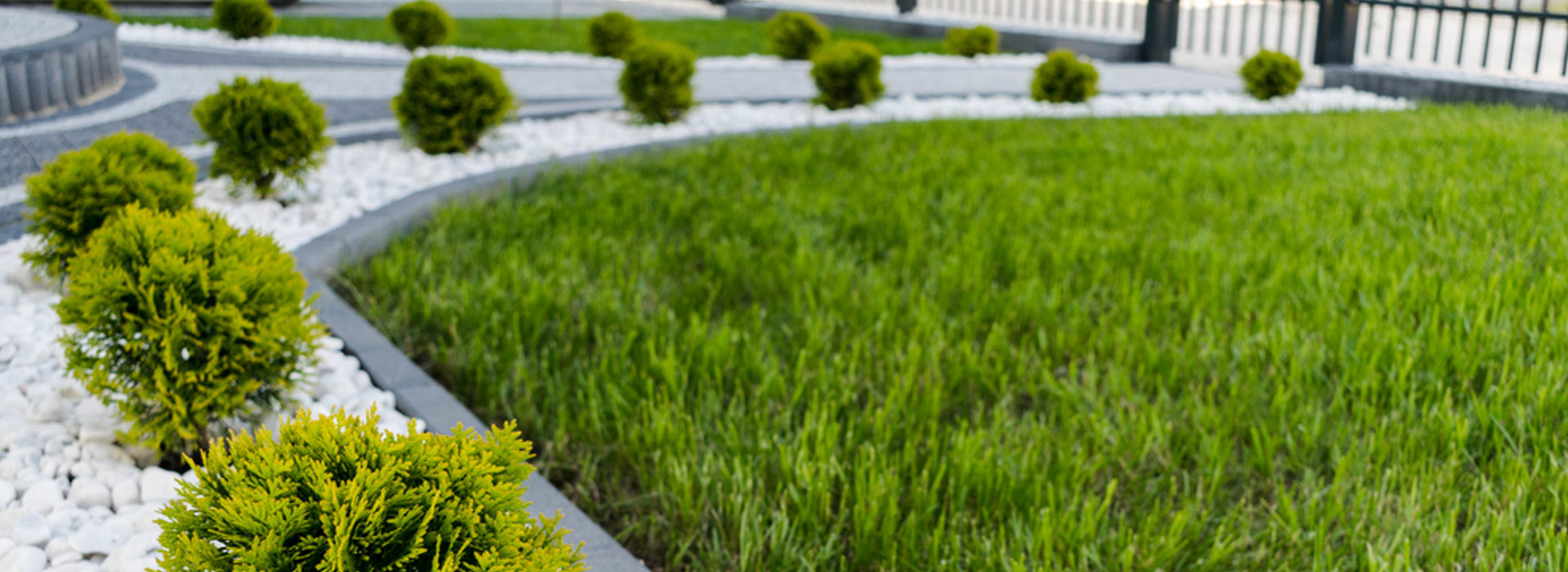 Header-Gartengestaltung